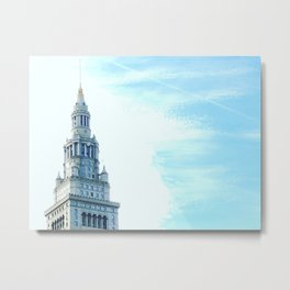 Cleveland Terminal Tower Sunny Morning Metal Print