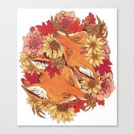 Autumn Fox Bloom Canvas Print