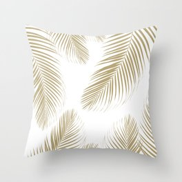 Palm Leaves - Gold Cali Vibes #3 #tropical #decor #art #society6 Throw Pillow
