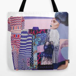 purple modern collage with pink and red Tote Bag