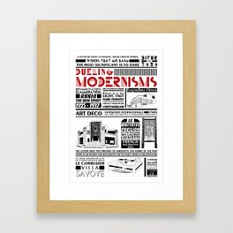 Dueling Modernisms Type & Architecture Framed Art Print