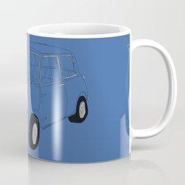 The Italian Job Blue Mini Cooper Coffee Mug