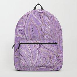 paisley purple Backpack