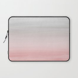 Touching Blush Gray Watercolor Abstract #1 #painting #decor #art #society6 Laptop Sleeve