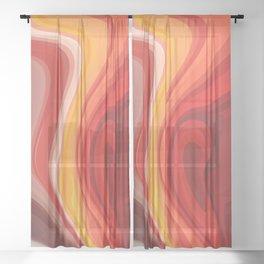 Phoenix rising Sheer Curtain