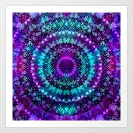 Celestial Midnight Mandala Art Print