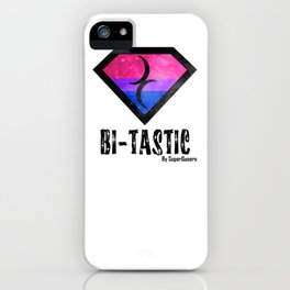 Bi-Tastic Bisexual medalion  iPhone Case