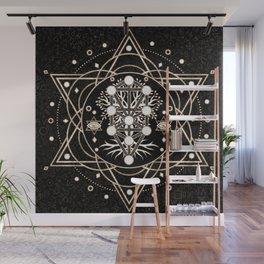Kabbalah The Tree of Life Sacred Geometry Ornament Wall Mural
