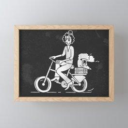 Cyclist Framed Mini Art Print