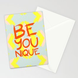 Be-You-Nique #society6 #motivational Stationery Cards