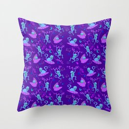 Jumping cheeky monkeys 01 Throw Pillow