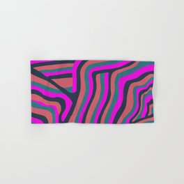 psychedelic zebra Hand & Bath Towel