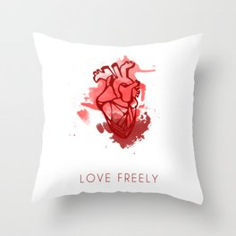 Love Freely Throw Pillow