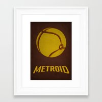 metroid Framed Art Prints featuring Metroid by Jynxit