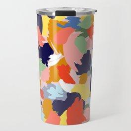 Bright Paint Blobs Travel Mug