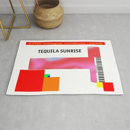 "Cocktail ""T"" - Tequila Sunrise Rug"