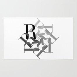 R Spiral Rug
