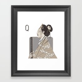 Queen S. Framed Art Print