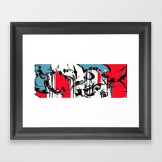 GRAFFITI GARDEN Framed Art Print