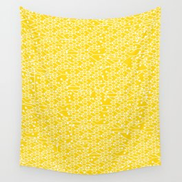 Microchip Pattern (Yellow) Wall Tapestry