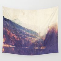 wander Wall Tapestries featuring Wander by DesignLove