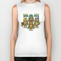 tmnt Biker Tanks featuring TMNT by Micka Design