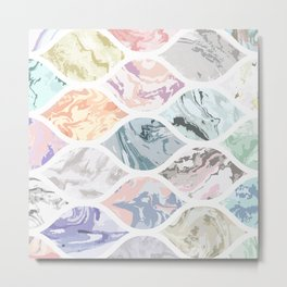 Oval shapes of marble Metal Print