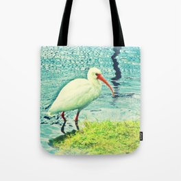 White Ibis Tote Bag