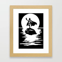 Sitama One Punch Man T-Shirt Anime River Moon One Piece Death Note Tokyo Ghoul Renamon Framed Art Print