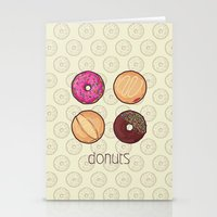 donuts Stationery Cards featuring Donuts by Monstruonauta