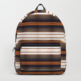 Rich Rustic Brown Stripes Backpack