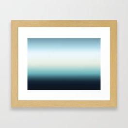 ocean sky color gradient  - blue , white , black Framed Art Print