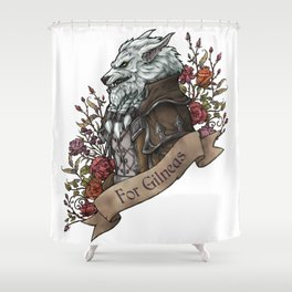 Old Wolf Shower Curtain