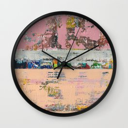 Dogbane Pink Abstract Painting Print Wall Clock