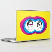 virginia Laptop & iPad Skins featuring Virginia Woolf by Mohac