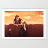 Ninja Buds Art Print