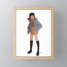 Miss October Framed Mini Art Print