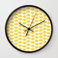 gumball Wall Clocks featuring Gumball Eyes by Shelby Thompson