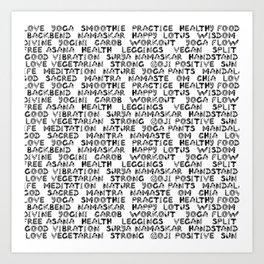 yoga text Art Print