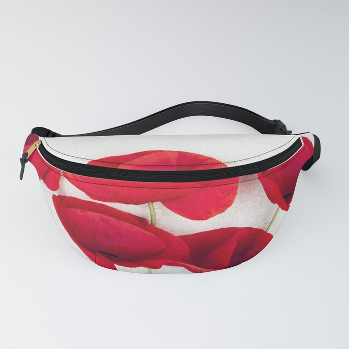 A Bunch Of Red Poppies Fanny Pack