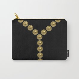 gold clips vintage fashion black edition Carry-All Pouch