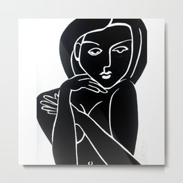Vanity Girl -  POP ART PAINTING GIANT PRINTS Nude Metal Print
