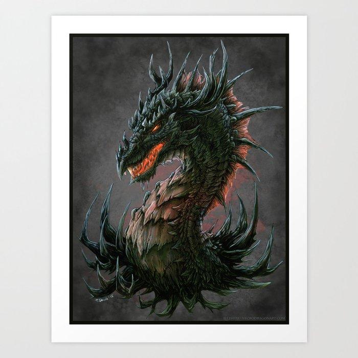 Regal Dragon Art Print By Drakhenliche Society6