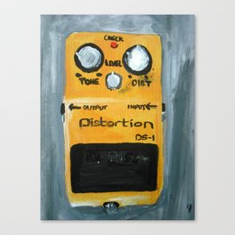 Guitar Pedal Boss DS1 Alternative Acrylic On Canvas Canvas Print