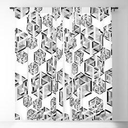 Hexagon monochrome Blackout Curtain