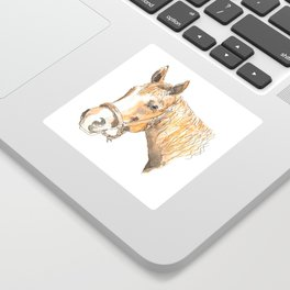 Chestnut horse painting Sticker