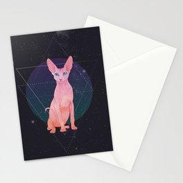 Galaxy Sphynx Cat Stationery Cards