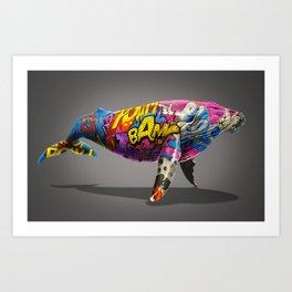 Tagged Whale Art Print