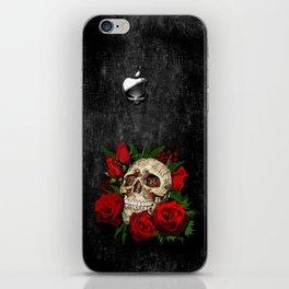 Red Rose Sugar skull iPhone Skin
