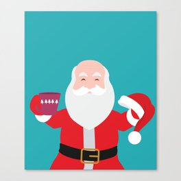 Have a A delightful cup of Christmas with Santa Claus Canvas Print
